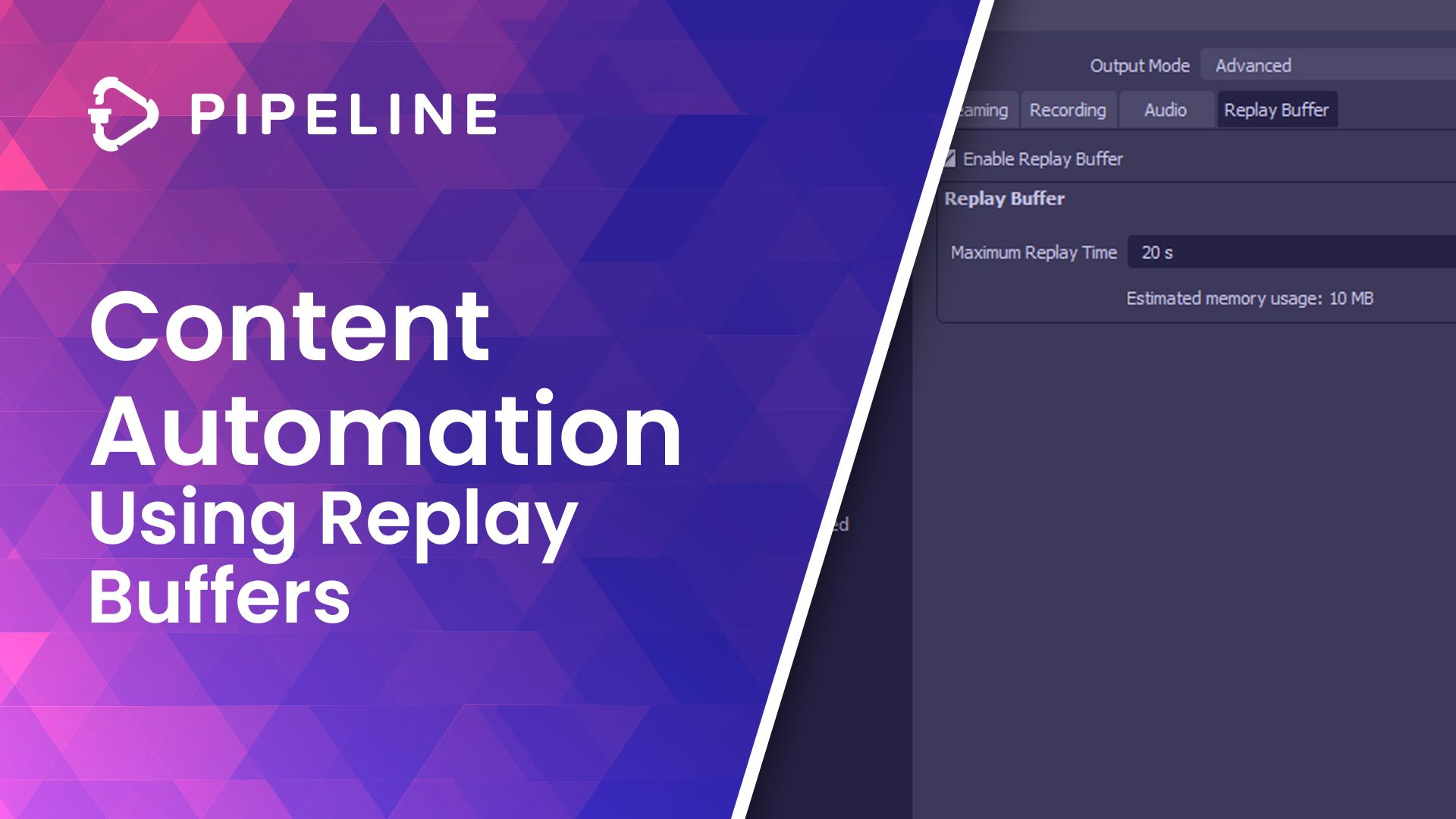Content Automation With Replay Buffers